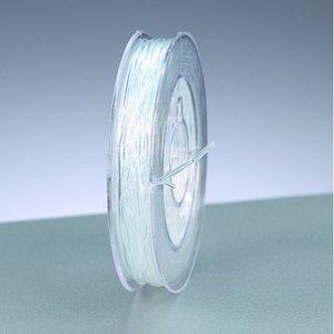 Billigtpyssel.se | Elastisk tråd 1 mm - klar transparent 5 m