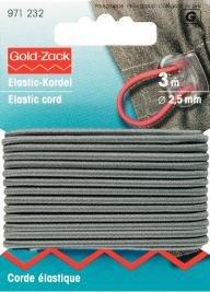 Billigtpyssel.se | Elastiskt snöre 2.5mm grå 3m