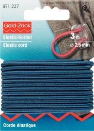 Billigtpyssel.se | Elastiskt snöre 2.5mm marinblå 3m