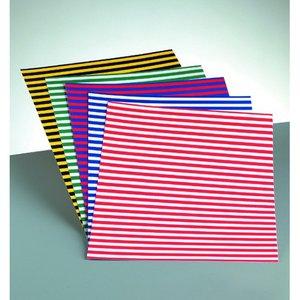 Billigtpyssel.se | Färgat pappark 25 x 35 cm - blandade 10 blad ränder