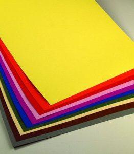 Billigtpyssel.se | Färgat pappark 50 x 70 cm - 10 ark / 300 g/m²