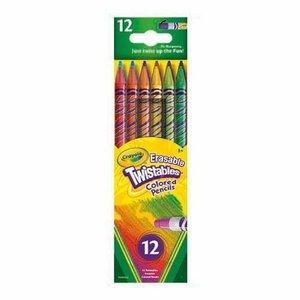 Billigtpyssel.se | Färgpennor med Sudd Crayola Twist - 12 pennor