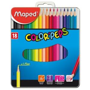 Billigtpyssel.se | Färgpennset Maped - 18 Pennor