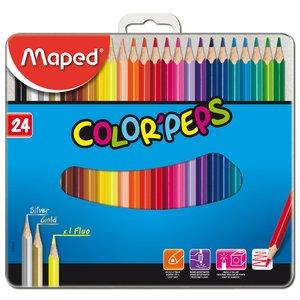Billigtpyssel.se   Färgpennset Maped - 24 Pennor