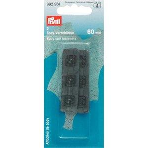 Billigtpyssel.se   Fästanordning för Bodysuit med tryckfästanordning 60 mm svart 2 st