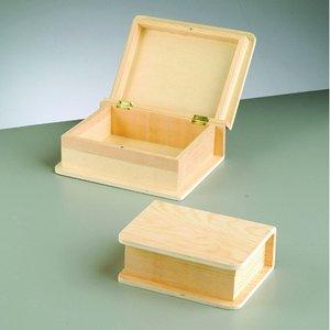 Billigtpyssel.se | Förvaringslåda träböcker set 20 x 15 x 8 cm - 2 delar