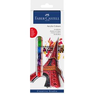 Billigtpyssel.se | Faber-Castell Akrylfärgset 14ml - 12 färger
