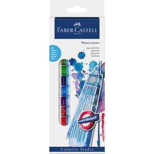 Billigtpyssel.se | Faber-Castell Akvarellfärgset 12ml - 12 färger