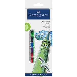 Billigtpyssel.se | Faber-Castell Oljefärgset 14ml - 12 färger