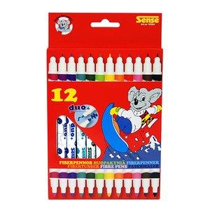 Billigtpyssel.se   Fiberpennor Dubbelspets Sense - 12 pennor