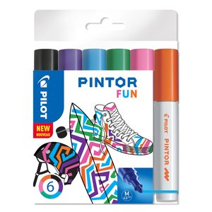 Billigtpyssel.se | Fiberpennset Pilot Pintor (Fun Mix) - Medium
