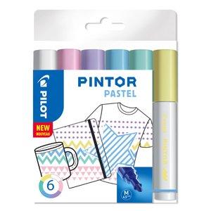 Billigtpyssel.se | Fiberpennset Pilot Pintor (Pastel Mix) - Medium
