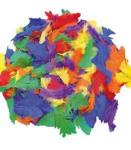 Billigtpyssel.se | Fjädrar 100 g blandade färger
