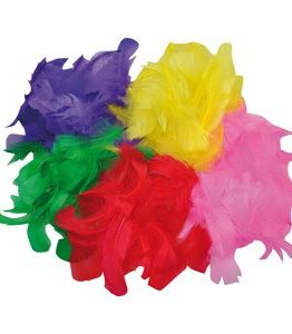 Billigtpyssel.se | Fjädrar blandade färger - 200 st