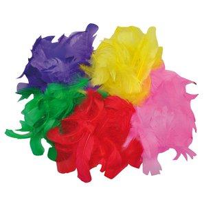 Billigtpyssel.se   Fjädrar blandade färger - 200 st