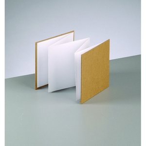 Billigtpyssel.se | Fotoalbum 13 x 13 cm - brun / vit 6 ark / 200 g / m²