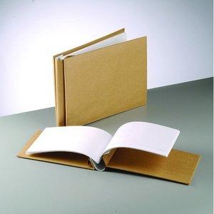 Billigtpyssel.se | Fotoalbum 31 x 31 x 5 cm - brun 25 ark / 190 g / m²
