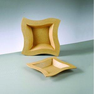 Billigtpyssel.se | Fyrkantigt fat kurvigt 19 x 19 x 3 cm
