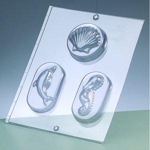 Billigtpyssel.se | Gjutform för tvål - havsdjur / 3 delar