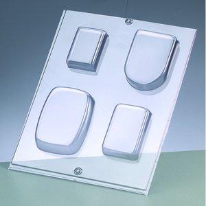 Billigtpyssel.se | Gjutform för tvål - rektangulär / 4 delar