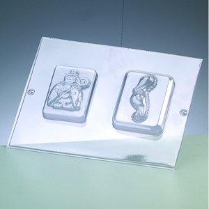 Billigtpyssel.se | Gjutform för tvål - sjöhäst / 2 delar