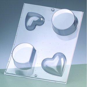 Billigtpyssel.se | Gjutform - hjärta + rund form