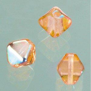 Billigtpyssel.se | Glaspärla dubbelkon 6 mm - brun AB 50 st.