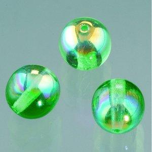 Billigtpyssel.se | Glaspärla rund 6 mm - mörkgrön AB 50 st.