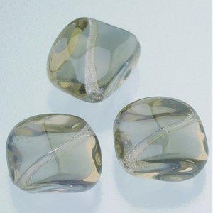 Billigtpyssel.se | Glaspärlor 16 x 16 mm - grå 5 st. nr 3