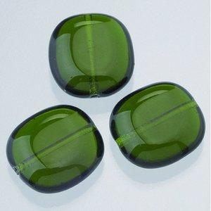 Billigtpyssel.se | Glaspärlor 17 x 16 mm - olivgrön 4 st. nr 0