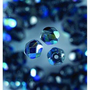 Billigtpyssel.se | Glaspärlor facetterade - antracit - runda
