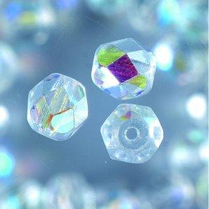Billigtpyssel.se | Glaspärlor facetterade - klar - runda