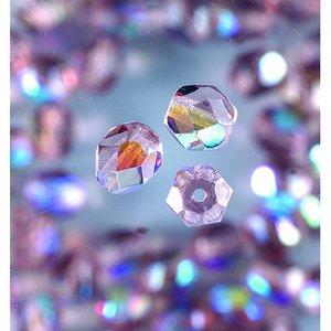 Billigtpyssel.se | Glaspärlor facetterade - malvafärgad - runda
