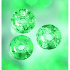 Billigtpyssel.se | Glaspärlor krackelerade - grön - rund