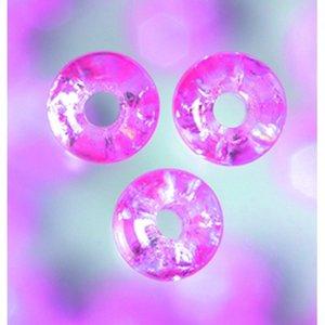 Billigtpyssel.se | Glaspärlor krackelerade - ljust rosa - rund