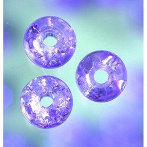 Billigtpyssel.se | Glaspärlor krackelerade - malvafärgad - rund