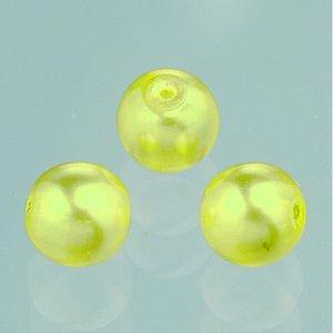 Billigtpyssel.se | Glaspärlor vax lyster 6 mm - gul 40 st.