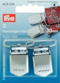 Billigtpyssel.se | Hängselclips HT silverfärg 30 mm 2 st