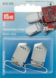 Billigtpyssel.se   Hängselclips härdat Stål nick. 25 mm 2 st