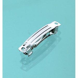 Billigtpyssel.se   Hårspänne 4 cm - silver 2 st.