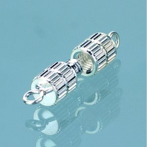 Billigtpyssel.se | Halsbandslås 10 mm - försilvrad 50 st. cylinder