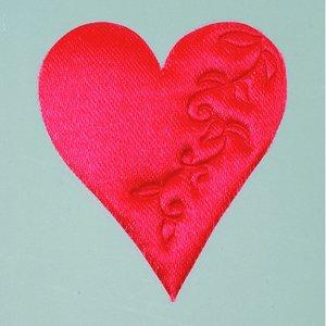 Billigtpyssel.se | Hjärta satin lösa 52 mm - 50-pack - röd