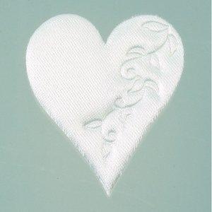 Billigtpyssel.se | Hjärta satin lösa 52 mm - 50-pack - vit