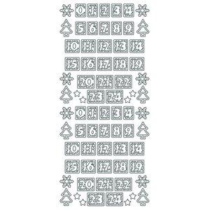 Billigtpyssel.se | Hobbysticker 10 x 23 cm - guld Nummer för adventskalender