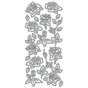 Billigtpyssel.se | Hobbysticker 10 x 23 cm - guld Rosor