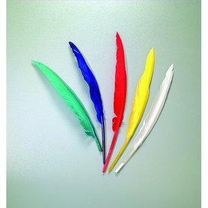 Billigtpyssel.se   Indianfjädrar 20 - 30 cm - flera färger blandade 10-pack