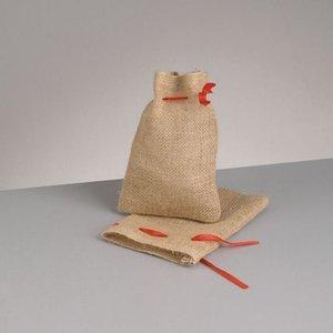 Billigtpyssel.se | Jutesäck med knytsnöre 14 x 18 cm