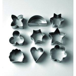 Billigtpyssel.se | Kakform 2 - 3 cm - 9 delar Sortiment