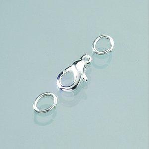 Billigtpyssel.se   Karbinhake 11 mm - försilvrad