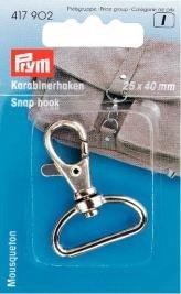 Billigtpyssel.se | Karbinhake 25/40 mm mm silverfärg